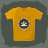 Ganjah emblem vector t-shirt print template Stock Photography