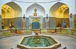 Ganjali可汗公共浴室,克尔曼,伊朗内部  库存图片