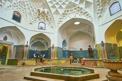Ganjali可汗公共浴室,克尔曼,伊朗秀丽  图库摄影