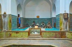 Ganjali可汗复合体,克尔曼,伊朗巴恩  免版税库存照片