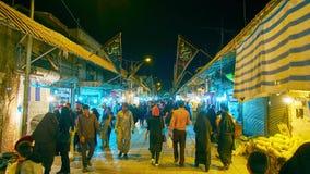 Ganjali Khan Bazaar por la tarde almacen de video