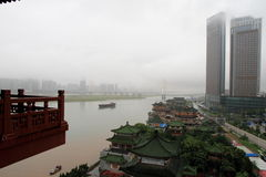 The Ganjiang River in rain Stock Photo