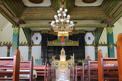 Ganjuran Church Interior. Interior of Famous Ganjuran Church, A Fusion of Christianity, Javanese Kraton and Hinduism design Royalty Free Stock Images