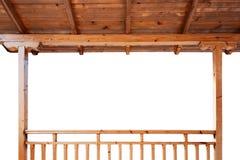 Gankowy dach from inside i poręcze Obrazy Royalty Free