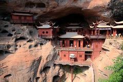 Ganlu temple , a Temple built on dangous cliff, in Fujian, China Stock Photo