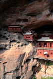 Ganlu temple , a Temple built on dangous cliff, in Fujian, China Stock Photography
