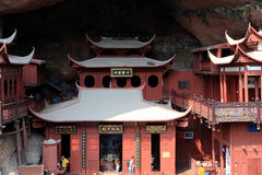 Ganlu temple , a Temple built on dangous cliff, in Fujian, China Stock Images