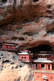 Ganlu temple , a Temple built on dangous cliff, in Fujian, China Royalty Free Stock Image