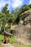 Ganmen-daibutsu an Takkou-Höhle Bisyamon-Halle, Hiraizumi stockbilder