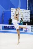 Ganna Rizatdinova con il cerchio Fotografie Stock