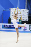 Ganna Rizatdinova with hoop Stock Photos