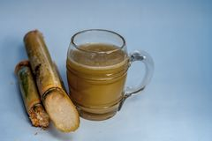 Ganne ka rasa lub trzcina cukrowa sok z surową trzciną cukrowa Obraz Royalty Free