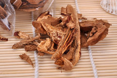 Ganoderma cut into pieces--a traditional chinese medicine Royalty Free Stock Photo
