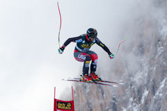 GANONGTravis (USA). VAL GARDENA - GROEDEN, ITALY 21 GANONGTravis (USA) competing in the Audi FIS Alpine Skiing World Cup MEN'S DOWNHILL on the Saslong course Royalty Free Stock Photo