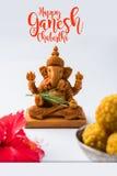 Ganpati greeting or Lord ganesha Greeting or happy ganesh chaturthi greeting card Stock Photography