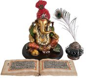 Ganpati, the Hindu Lord of New Begnning Royalty Free Stock Photography
