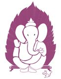 Ganpati on leaf bg Royalty Free Stock Photos