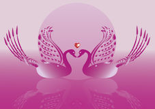 Gans op Roze achtergrond Royalty-vrije Stock Afbeeldingen