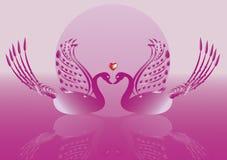 Gans op Roze achtergrond royalty-vrije illustratie
