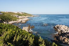 Gansbaai海岸线在南非 图库摄影