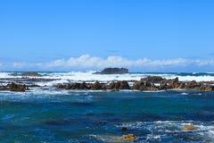 Gansbaai海岸线  免版税图库摄影