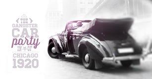 Gansgster obsiadanie w samochodzie. Obrazy Royalty Free