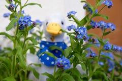 Gansje peluche bloemen Stock Foto's