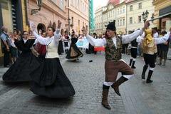 ganska folklore prague för festival 6 Fotografering för Bildbyråer