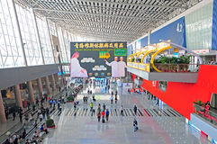 Ganska korridor för Canton, porslin Arkivfoto