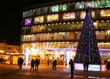 Ganska near köpcentrumrepublik för jul i Nizhny Novgorod Arkivbild