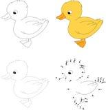 Ganso branco Ilustração do vetor Ponto para pontilhar o jogo para crianças Imagens de Stock