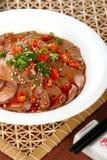Ganso chino delicioso de la pimienta caliente del plato frío del alimento fotografía de archivo
