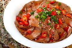 Ganso chino delicioso de la pimienta caliente del plato frío del alimento Fotos de archivo libres de regalías