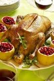 Ganso de la carne asada de la Navidad Foto de archivo libre de regalías