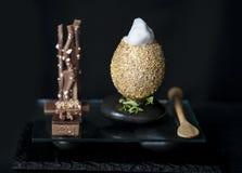 Ganso e ovos dourados Foto de Stock Royalty Free