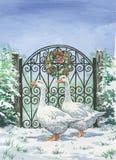 Gansos do Natal Fotos de Stock