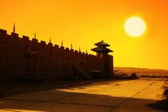 Gansu-alte Stadt yangguan. Lizenzfreie Stockfotografie