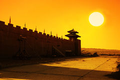 Gansu ancient city yangguan. Royalty Free Stock Photography