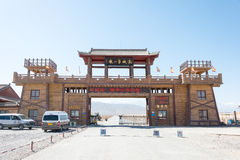 GANSU, CHINA - Apr 13 2015: The First Pier of the Great Wall Sce Royalty Free Stock Image