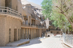GANSU, CHINA - Apr 30 2015: Mogao Caves. a famous historic site. In Dunhuang, Gansu, China Royalty Free Stock Photo