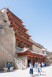 GANSU, CHINA - Apr 30 2015: Mogao Caves. a famous historic site Stock Photography