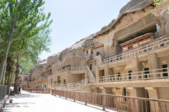 GANSU, CHINA - Apr 30 2015: Mogao Caves. a famous historic site. In Dunhuang, Gansu, China Royalty Free Stock Images