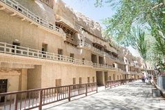 GANSU, CHINA - Apr 30 2015: Mogao Caves. a famous historic site. In Dunhuang, Gansu, China Stock Photography