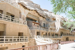 GANSU, CHINA - Apr 30 2015: Mogao Caves. a famous historic site. In Dunhuang, Gansu, China Royalty Free Stock Photography