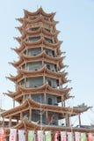 GANSU, CHINA - Apr 10 2015: Zhangye Wanshou Pagoda. a famous his. Toric site in Zhangye, Gansu, China Stock Images