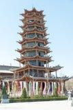 GANSU, CHINA - Apr 10 2015: Zhangye Wanshou Pagoda. a famous his. Toric site in Zhangye, Gansu, China Stock Photography