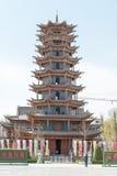 GANSU, CHINA - Apr 10 2015: Zhangye Wanshou Pagoda. a famous his. Toric site in Zhangye, Gansu, China Royalty Free Stock Photography