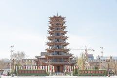 GANSU, CHINA - Apr 10 2015: Zhangye Wanshou Pagoda. a famous his. Toric site in Zhangye, Gansu, China Stock Image