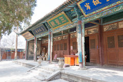 GANSU, CHINA - 08 April 2015: Haizangtempel beroemd historisch Si Royalty-vrije Stock Foto