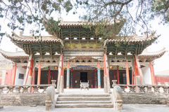GANSU, CHINA - 08 April 2015: Wuwei Confuciaanse Tempel (Wuwei Wen Mi Stock Foto